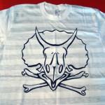 skreened dino skull print